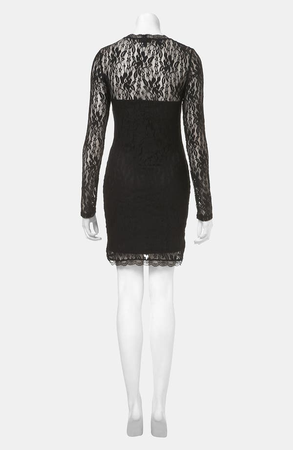 Alternate Image 2  - Topshop Lace Body-Con Dress