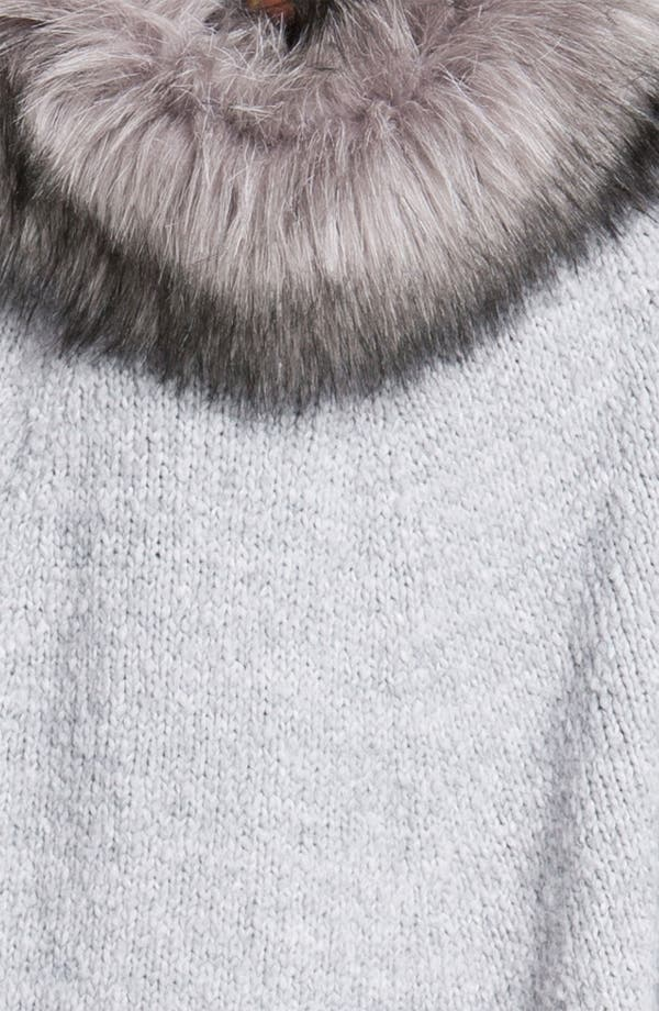 Alternate Image 3  - MICHAEL Michael Kors Faux Fur Trim Poncho Sweater