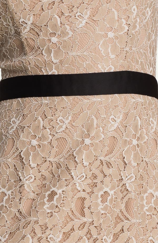 Alternate Image 3  - Max & Cleo Satin Trim Lace Sheath Dress