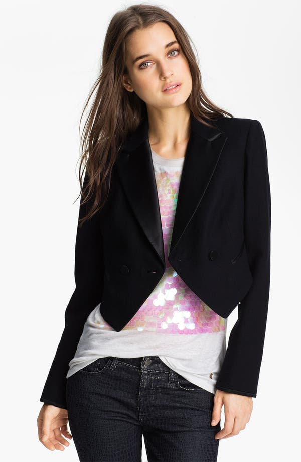 Alternate Image 3  - Juicy Couture Convertible Tuxedo Tail Jacket