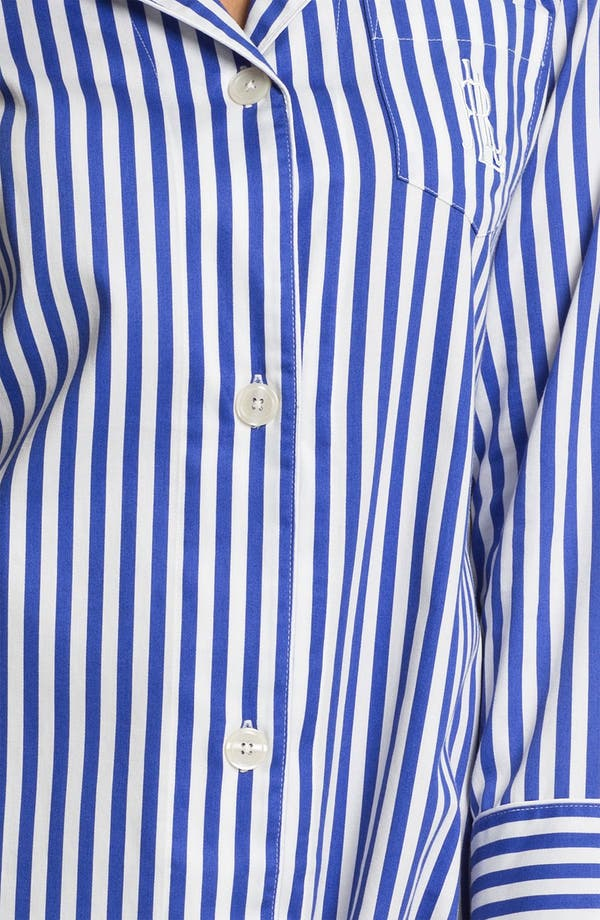 Alternate Image 3  - Lauren Ralph Lauren Sleepwear Stripe Sateen Nightshirt