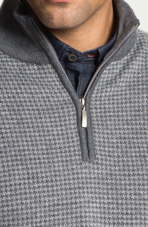 Alternate Image 3  - Toscano Merino Quarter Zip Wool Blend Sweater
