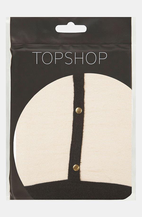 Alternate Image 3  - Topshop Gold Stud Suspender Tights