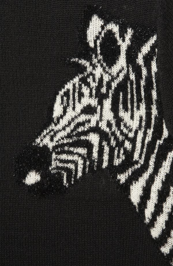 Alternate Image 3  - Topshop 'Mirrored Zebras' Sweater