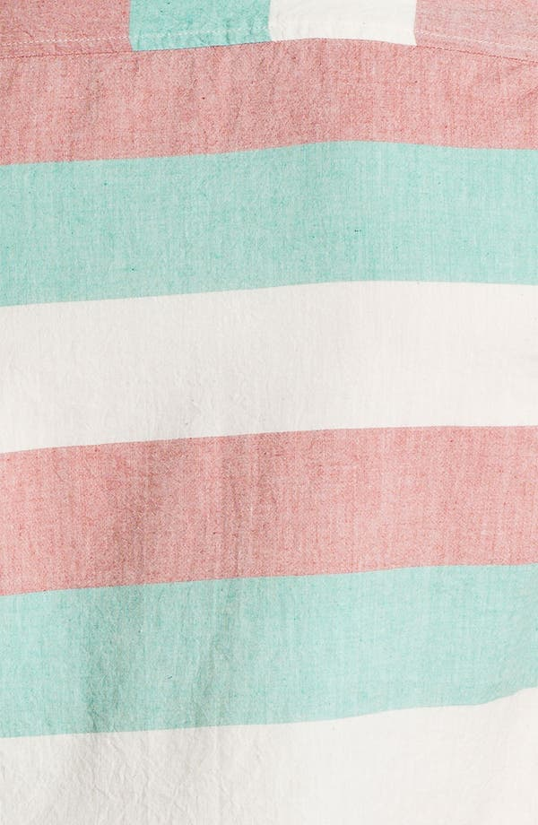 Alternate Image 3  - Topman Stripe Short Sleeve Shirt