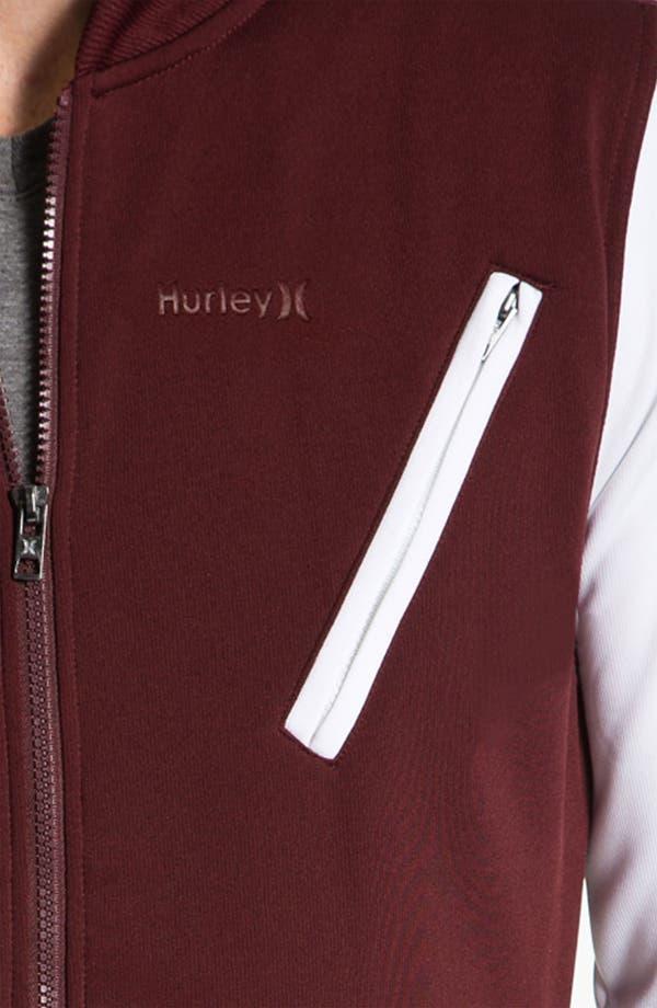 Alternate Image 3  - Hurley 'Velocity' Fleece Varsity Jacket