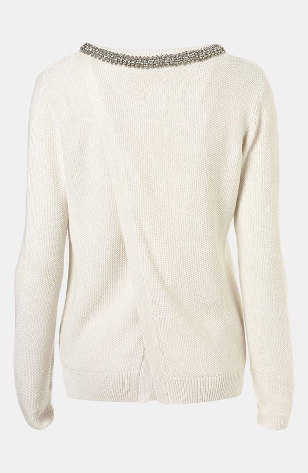 Alternate Image 2  - Topshop Embellished Collar Sweater