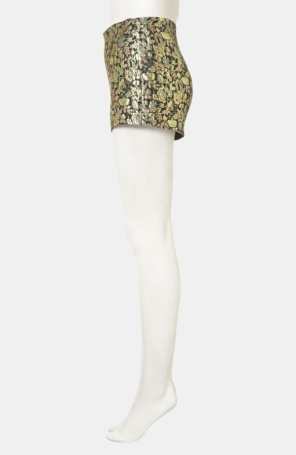 Alternate Image 3  - Topshop Metallic Jacquard Shorts