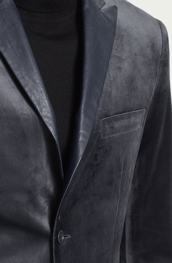 Alternate Image 3  - Natural Blue Velvet Sportcoat (Online Exclusive)