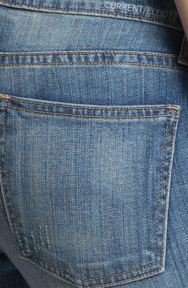 Alternate Image 3  - Current/Elliott 'The Rolled' Stretch Jeans (Baltic Super)