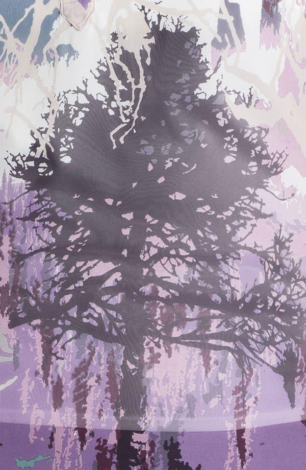 Alternate Image 3  - Evans 'Tree' Border Print Blouse (Plus Size)