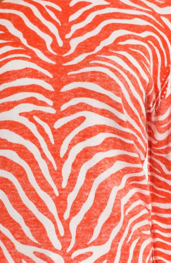 Alternate Image 3  - MICHAEL Michael Kors Zebra Print Sweater