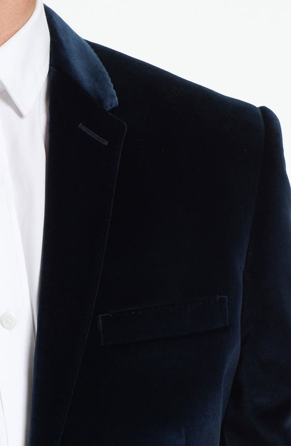 Alternate Image 3  - Burberry London Trim Fit Velvet Blazer