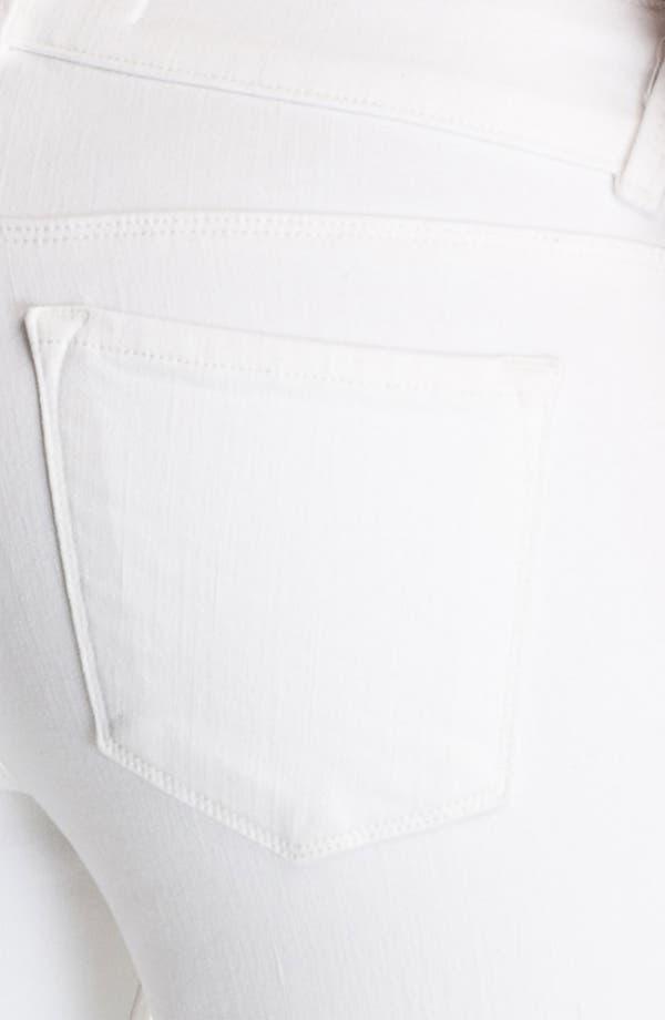 Alternate Image 3  - J Brand Low Rise Bell Bottom Stretch Jeans (Blanc)