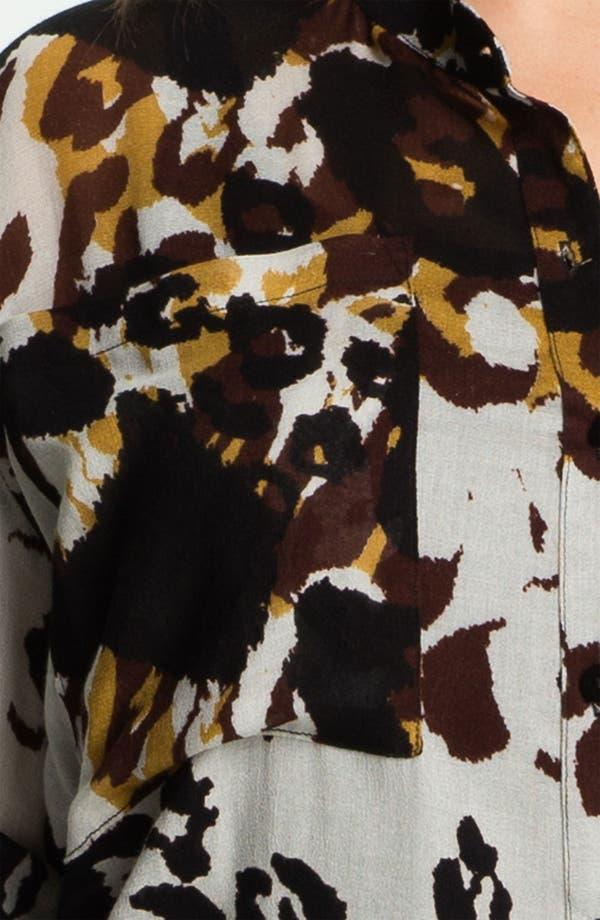 Alternate Image 3  - Nation LTD 'Sonoma' Leopard Print Shirt (Plus)