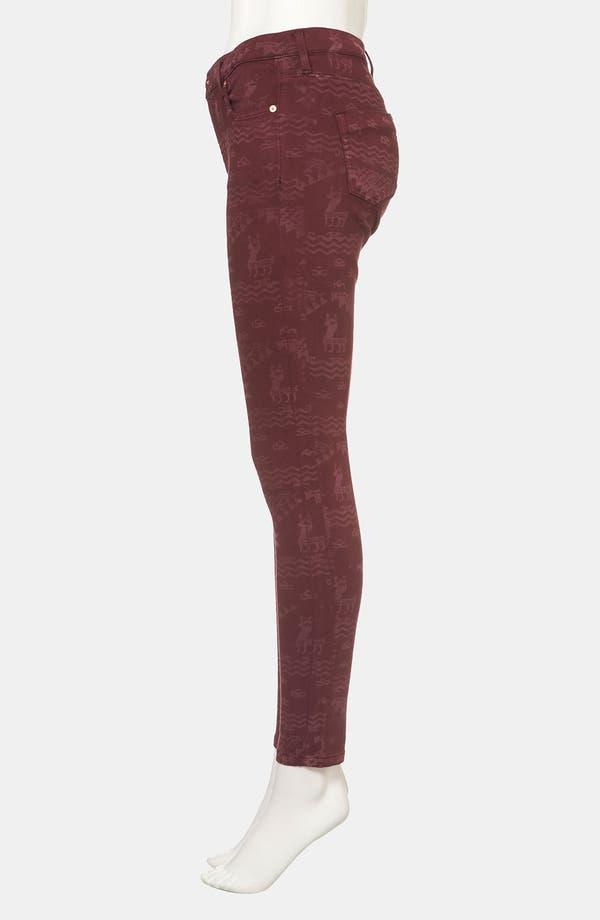 Alternate Image 4  - Topshop Moto 'Leigh' Andean Print Skinny Jeans