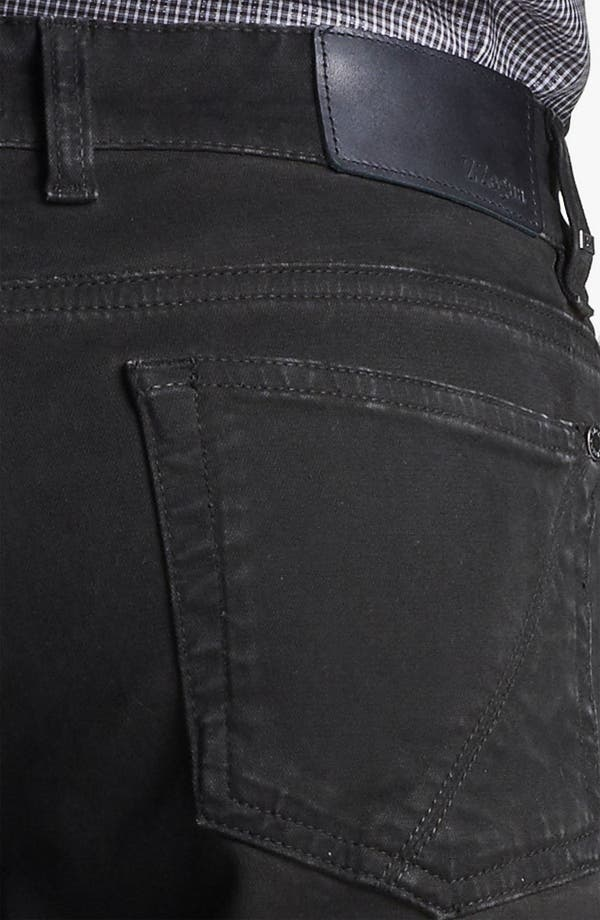 Alternate Image 4  - Z Zegna Straight Leg Jeans (Coated Black)