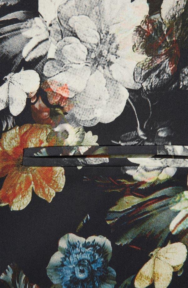 Alternate Image 3  - Topshop Floral Print Open Front Blazer