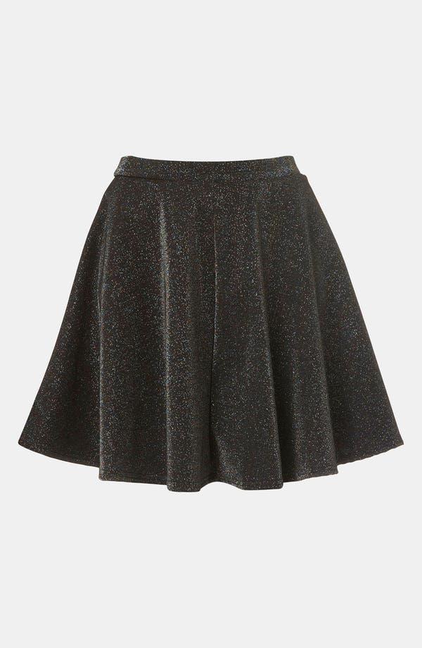 Alternate Image 1 Selected - Topshop Glitter Skater Skirt