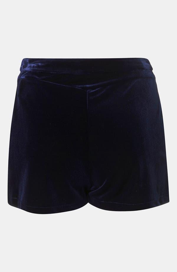 Alternate Image 2  - Topshop Velvet Shorts
