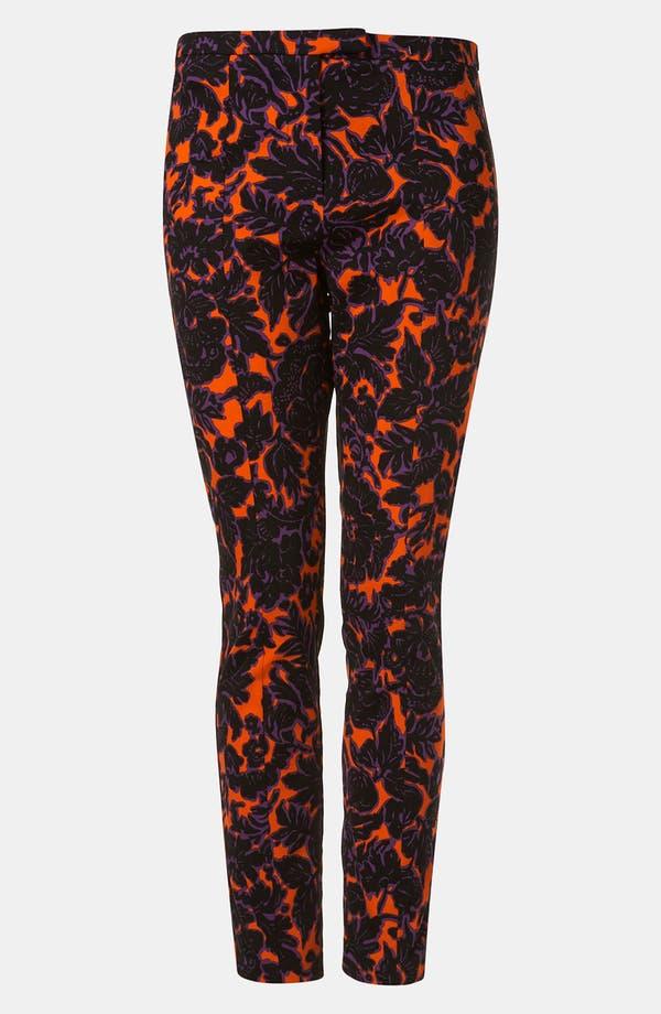 Alternate Image 1 Selected - Topshop 'Dandy' Floral Print Skinny Pants