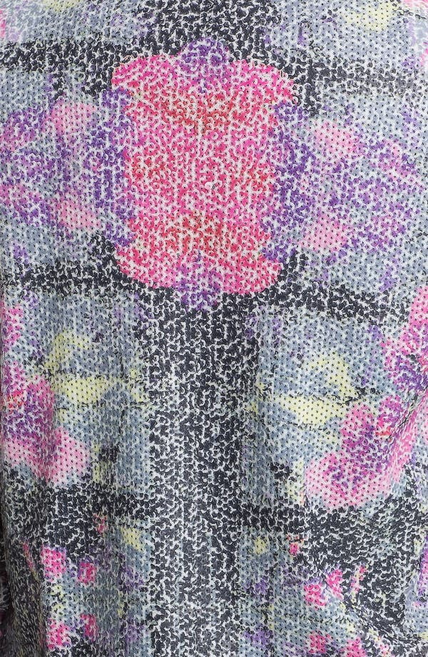 Alternate Image 3  - Chloe K Printed Sequin Blazer (Juniors)