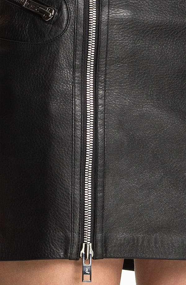 Alternate Image 3  - McQ by Alexander McQueen Double Zip Leather Skirt