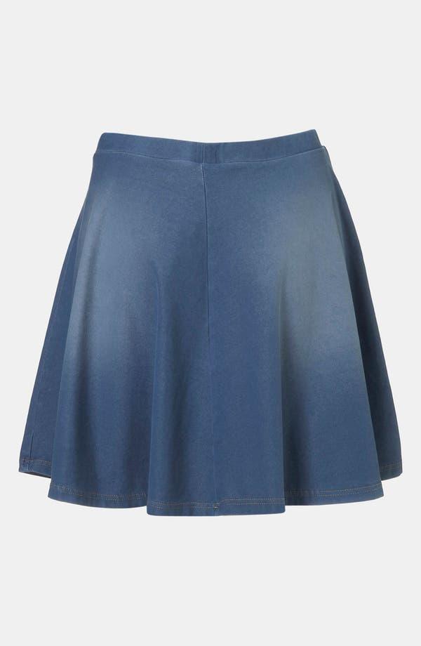 Alternate Image 2  - Topshop Denim Skater Skirt