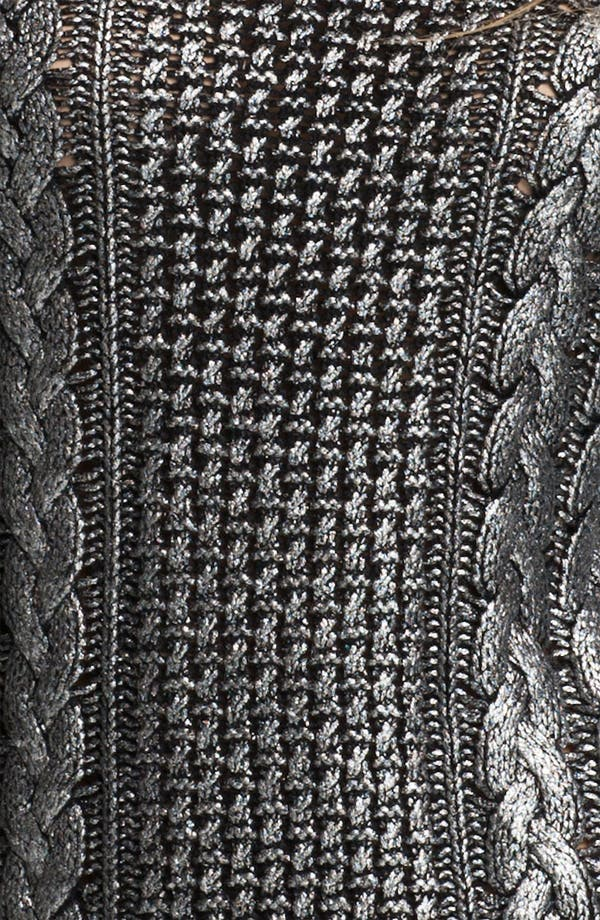 Alternate Image 3  - MICHAEL Michael Kors Foiled Fisherman's Knit Sweater (Petite)
