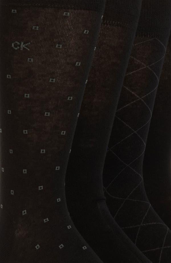 Alternate Image 2  - Calvin Klein Patterned Socks (4-Pack)