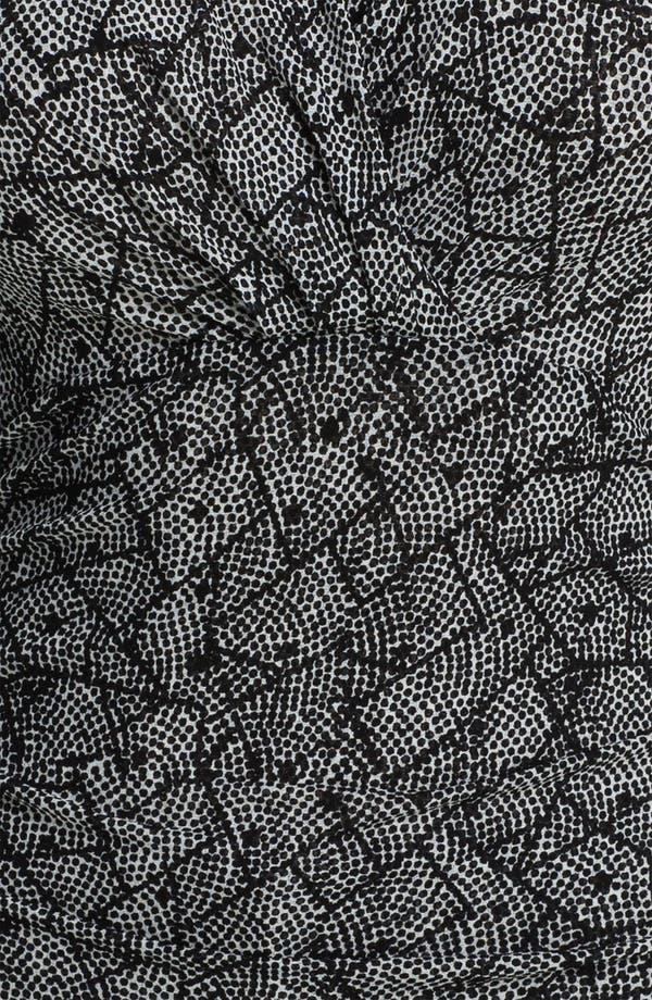 Alternate Image 3  - Classiques Entier® Surplice Silk Blend Mesh Top