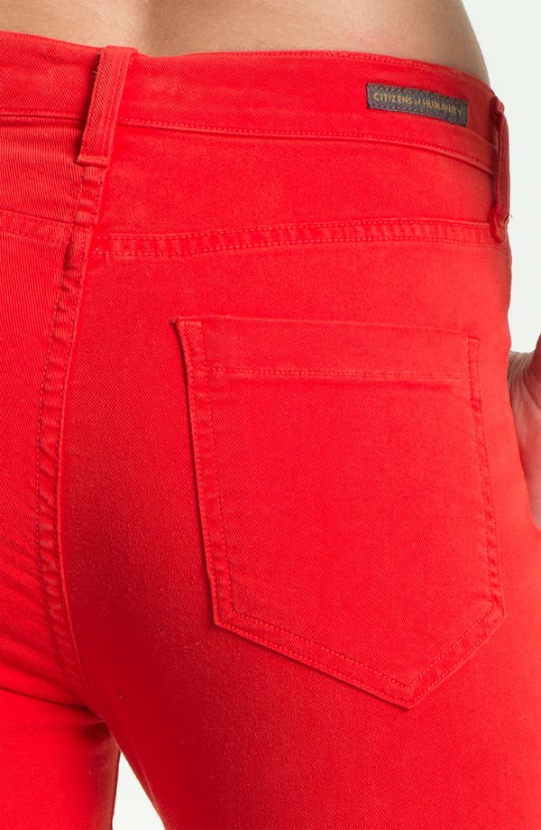 Alternate Image 3  - Citizens of Humanity 'Carlton' Crop Skinny Jeans (Villa Red)