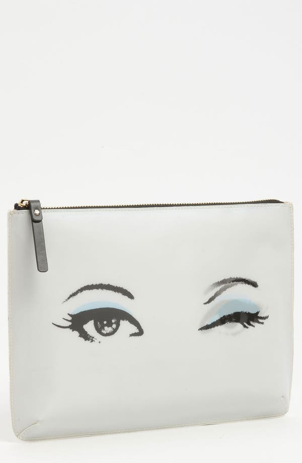 Alternate Image 1 Selected - kate spade new york 'georgie - all eyes' pouch