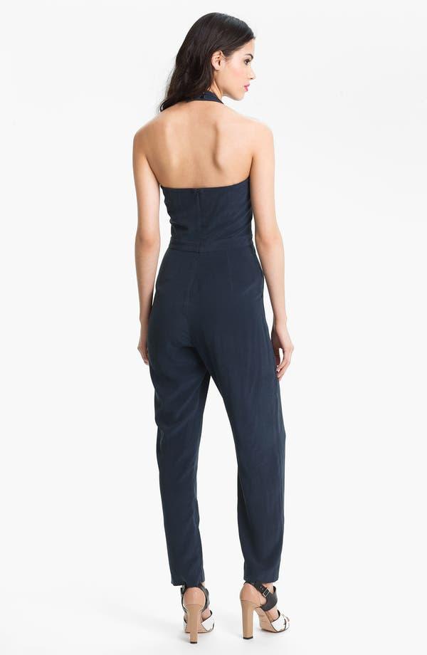 Alternate Image 2  - Nicole Miller Sweetheart Silk Jumpsuit