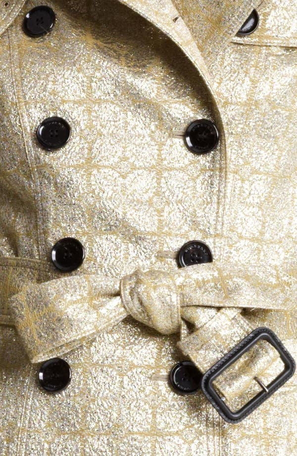 Alternate Image 4  - Burberry London Belted Metallic Jacquard Trench Coat