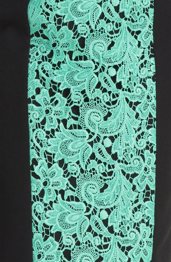 Alternate Image 3  - Black Halo 'Francisca' Lace Panel Contoured Dress