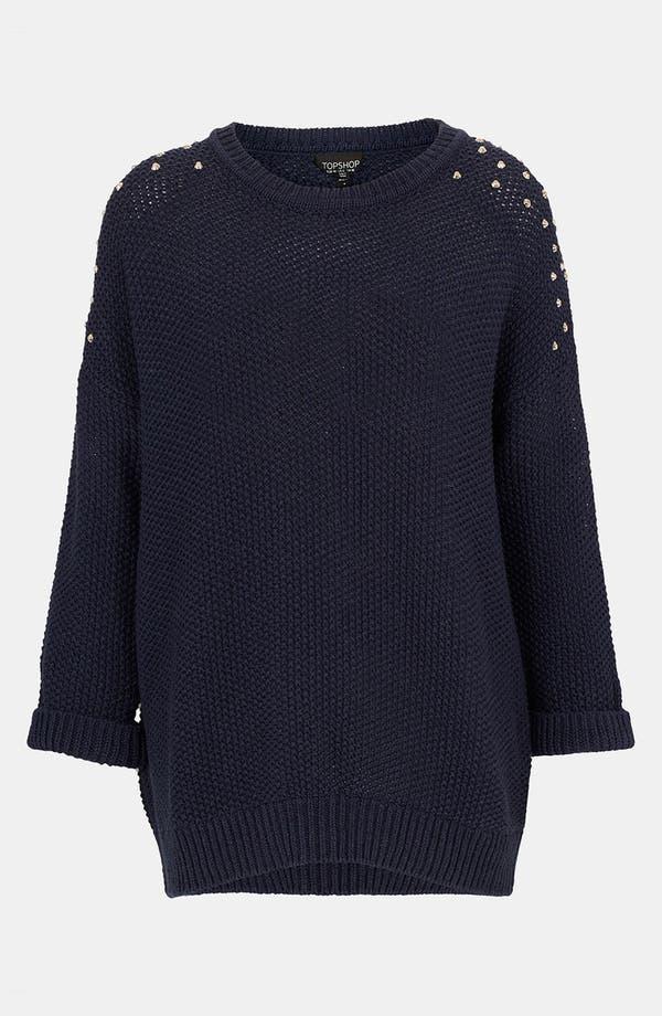 Alternate Image 1 Selected - Topshop Studded Shoulder Sweater