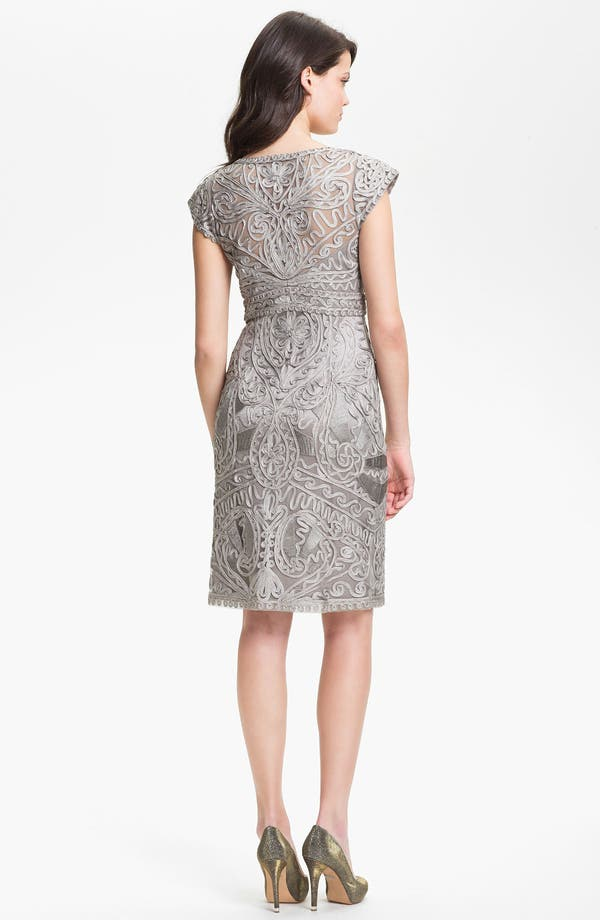 Alternate Image 2  - Sue Wong Embroidered V-Neck Sheath Dress