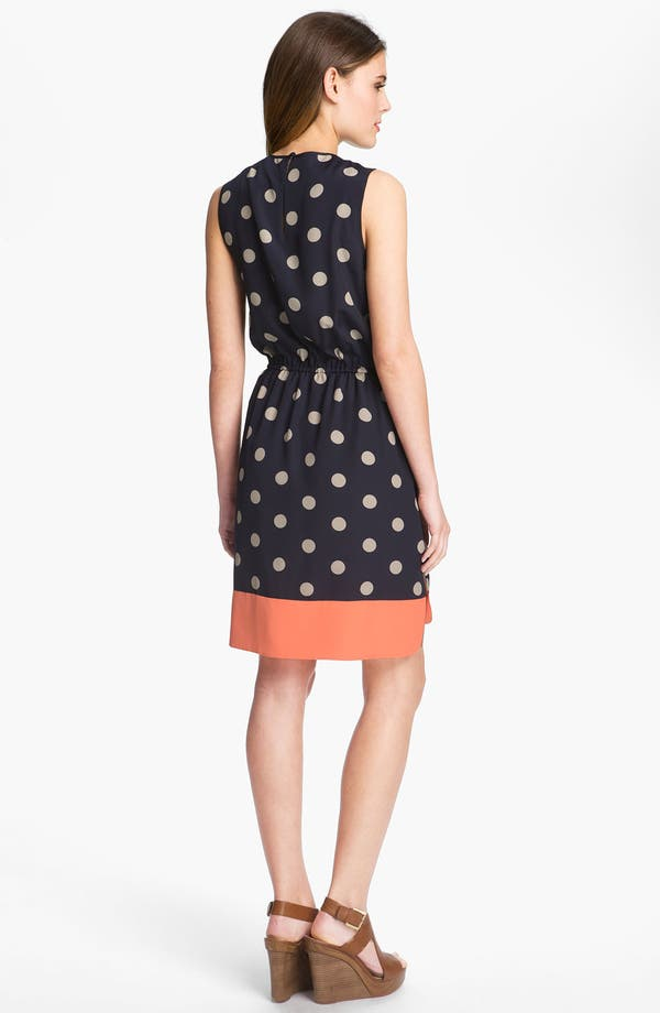 Alternate Image 2  - Eliza J Sleeveless Polka Dot Dress