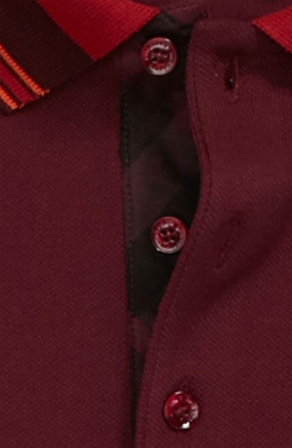 Alternate Image 3  - Burberry London 'Adler' Check Placket Piqué Polo