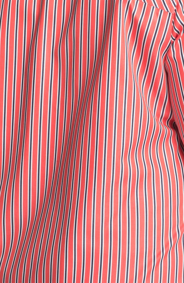 Alternate Image 3  - Foxcroft 'Papaya' Stripe Shaped Cotton Shirt (Plus Size)