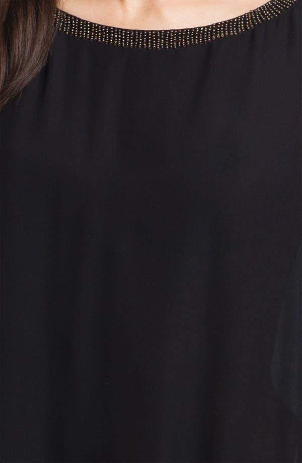 Alternate Image 3  - Eileen Fisher Beaded Silk Georgette Tunic