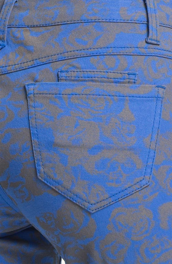 Alternate Image 3  - Wit & Wisdom Floral Print Skinny Jeans (Indigo) (Nordstrom Exclusive)