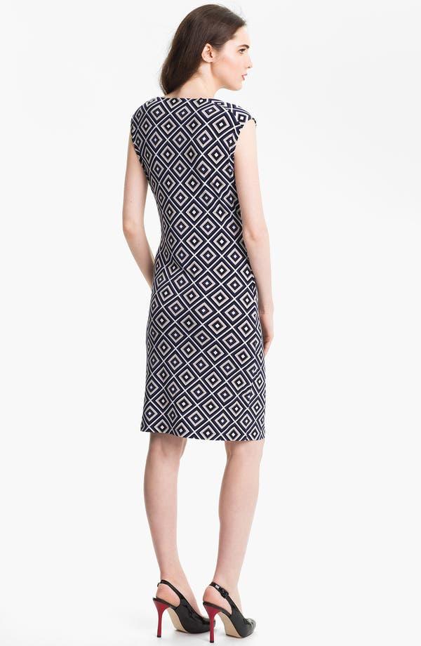 Alternate Image 2  - Anne Klein Diamond Print Dress