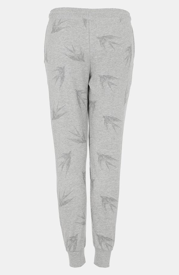 Alternate Image 2  - Topshop 'Swallow' Print Tapered Sweatpants