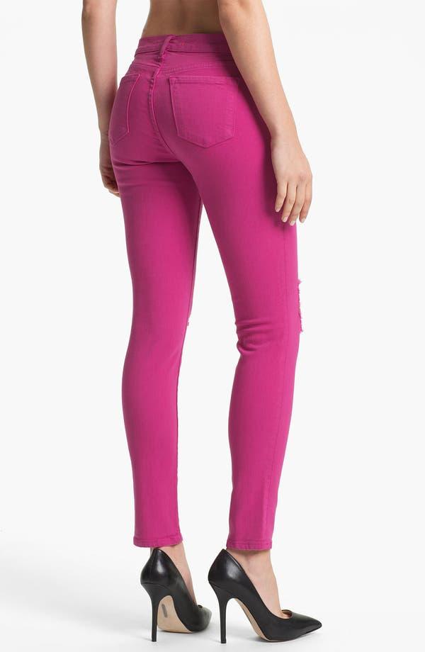 Alternate Image 2  - J Brand Distressed Skinny Leg Jeans (Magenta)