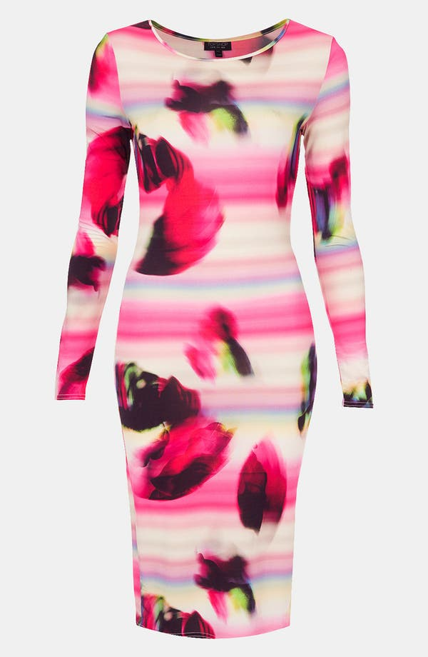 Alternate Image 1 Selected - Topshop 'Blur Rave' Body-Con Midi Dress