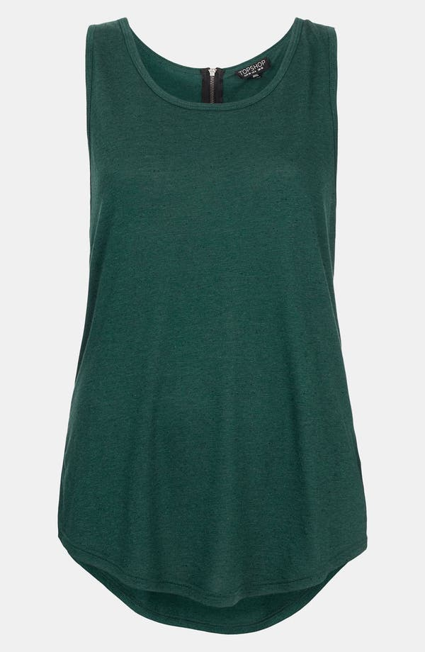Main Image - Topshop Back Zip Textured Tank