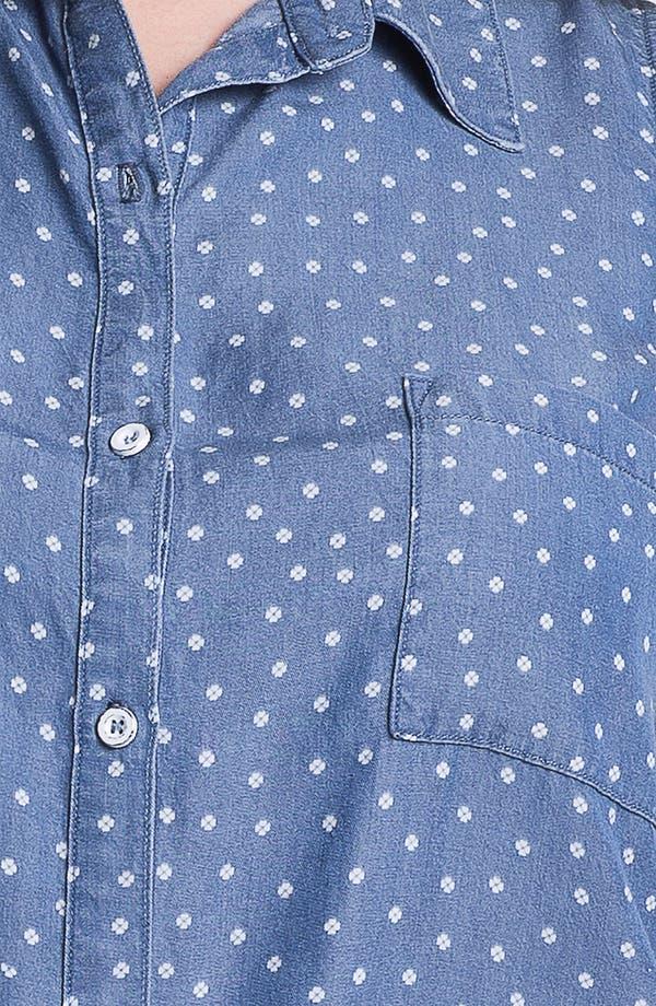Alternate Image 3  - Splendid 'Ditzy' Polka Dot Chambray Shirt (Plus)
