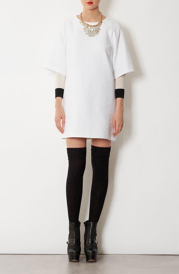 Alternate Image 4  - Topshop Clean Texture Shift Dress